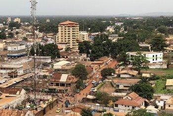 Una fotografía de Bangui, la capital de la República Centroafricana.