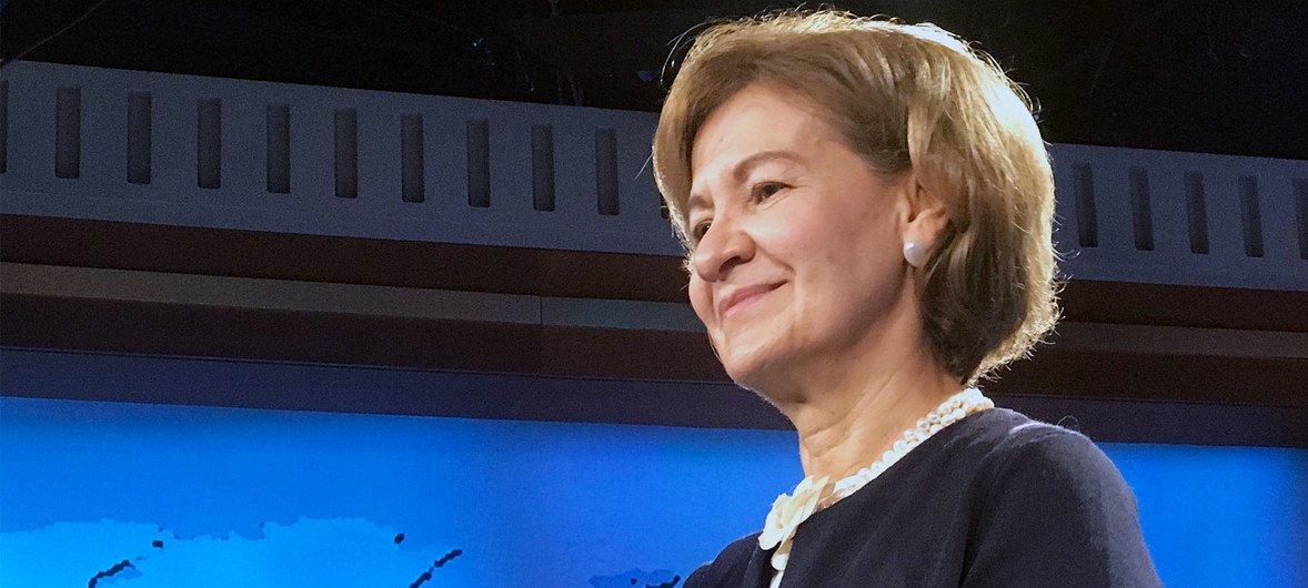 Secretária de Estado dos Negócios Estrangeiros e da Cooperação de Portugal, Teresa Ribeiro