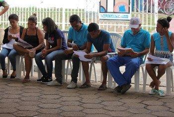 Algunos de los venezolanos reubicados en Brasil