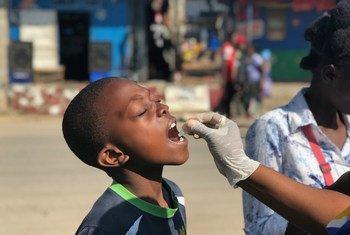 Campaña de vacunación en Mtendera, Zambia.