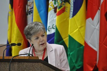 La Secrétaire exécutive de la Commission économique pour l'Amérique latine et les Caraïbes (CEPALC), Alicia Bárcena.
