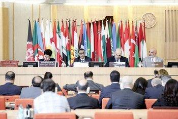 أعمال افتتاح مؤتمر منظمة الأمم المتحدة للأغذية والزراعة (الفاو) الإقليمي للشرق الأدنى بمقر المنظمة بروما