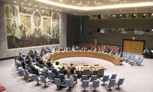 Security Council meeting on threats to international peace and security.