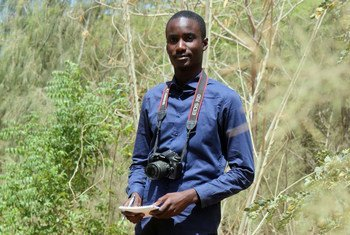 Le journaliste sénégalais, Moussa Ngom, à Dakar, la capitale du Sénégal