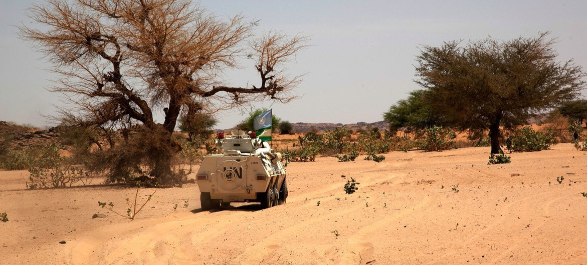 UNAMID peacekeepers on patrol in North Darfur, Sudan. (file photo)
