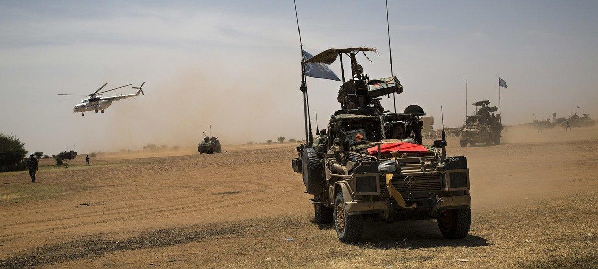 联合国马里稳定团在该国北部执行任务。