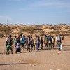 Des Ethiopiens arrivant à Obock, à Djibouti