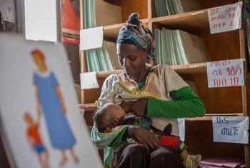 Mundene, une maman en Éthiopie, s'est engagée à allaiter jusqu'à ce que son bébé ait 6 mois.