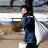 In the Democratic People's Republic of Korea, WFP implements food-for-work activities, providing food as payment for the building or repair of community infrastructure and assets (file)