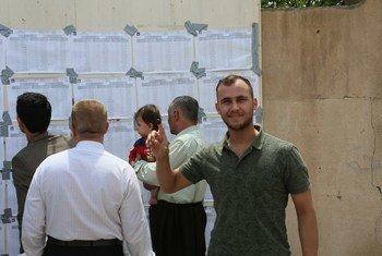 Избирательный участок в Эрбиле, Ирак, где прошли парламентские выборы