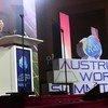الأمين العام للأمم المتحدة أنطونيو غوتيريش خلال كلمته في مؤتمر القمة العالمي بالنمسا
