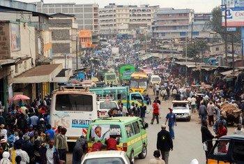 Las ciudades de los países en desarrollo, como Nairobi en Kenia, continúan creciendo.