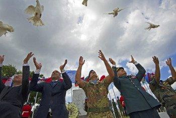 Персонал сил ООН в Ливане празднует День мира