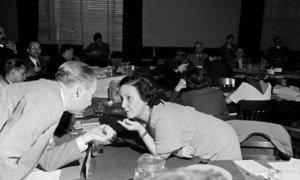 Bertha Lutz en la Conferencia de San Francisco, que tuvo lugar entre el 25 de abril y el 26 de junio de 1945.