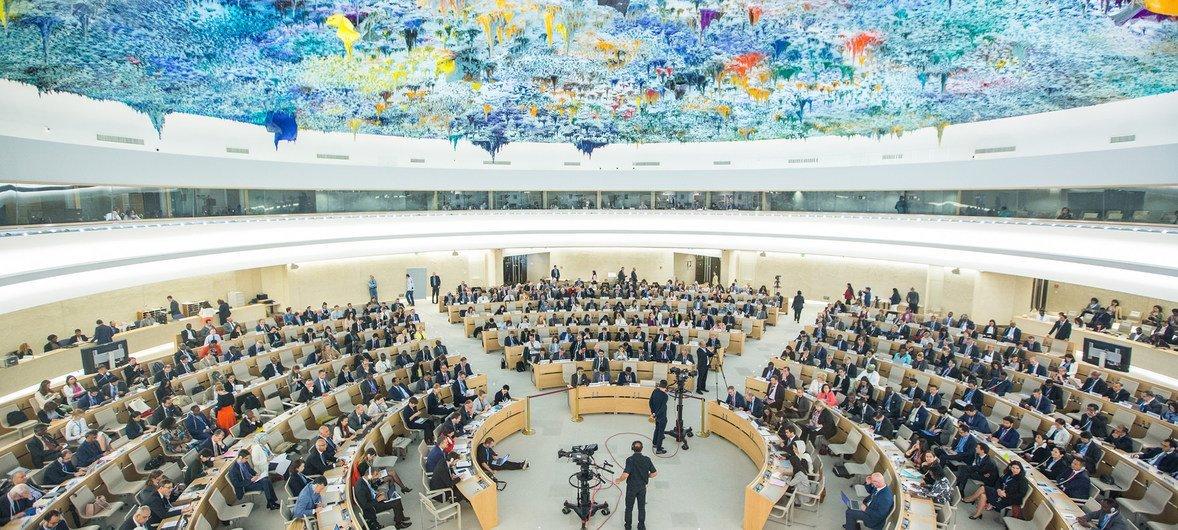 The Human Rights Council, Geneva (file photo, May 2018)