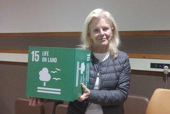 """克里斯汀·汤普金斯于2018年5月18日被任命为""""联合国环境署保护区赞助人""""。"""