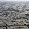 """鸟瞰缅甸受到强热带风暴""""纳尔吉斯""""袭击的伊洛瓦底三角洲地区。"""
