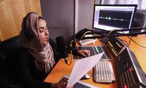 Inside an Afghan radio studio, where women's voices call for democracy and human rights.