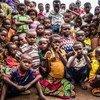 Children in the village of Benakuna, Kasaï region, Democratic Republic of Congo. 27 January 2018.