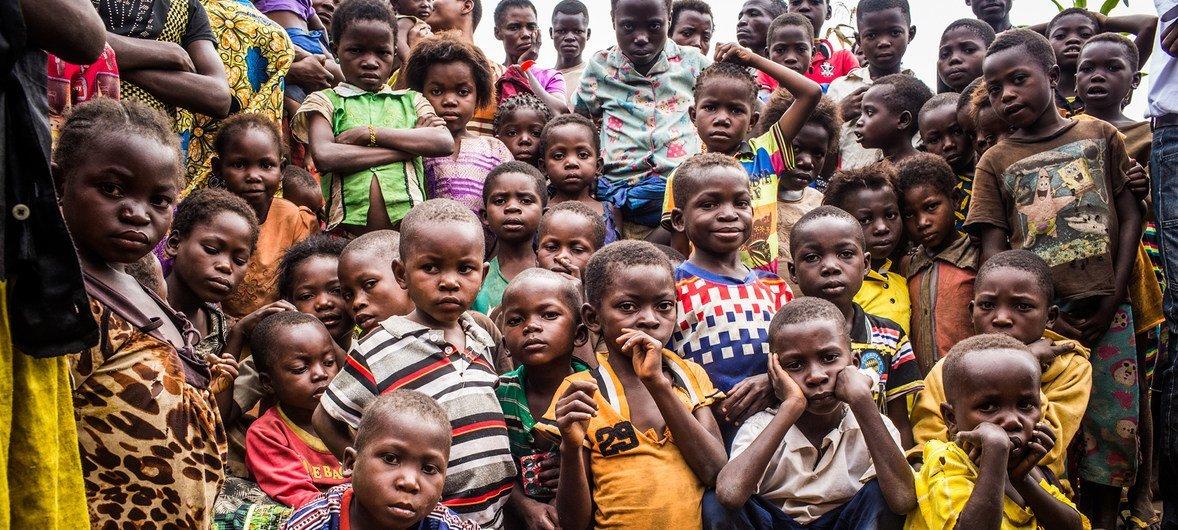 Niños en el pueblo de Benakuna, en la región de Kasai, en la República Democrática del Congo el 28 de enero de 2018.