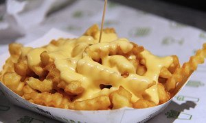 Fries with cheese: an example of unhealthy food