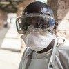 Personal sanitario en el Hospital Bikoro, el epicentro del último brote de Ébola en la República Democrática del Congo. El Hospital ha sellado una sala para diagnosticar a los presuntos pacientes de ébola y darles tratamiento.