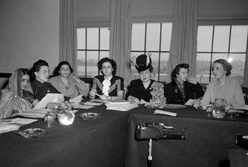 La Subcomisión sobre el Estatus de la Mujer en Hunter College, Nueva York, en 1946.