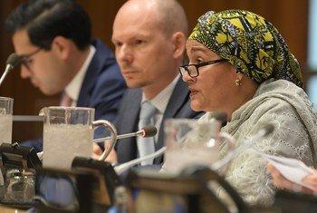 La Vice-Secrétaire générale des Nations Unies, Amina Mohammed, s'adresse à la réunion spéciale du Conseil économique et social sur les sociétés résilientes et inclusives pour tous.