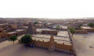Vue aérienne de la ville de Tombouctou, dans le nord du Mali.