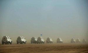 Msafara wa UN kati ya Gao na Kidal kaskazini mwa Mali. Februari 2017