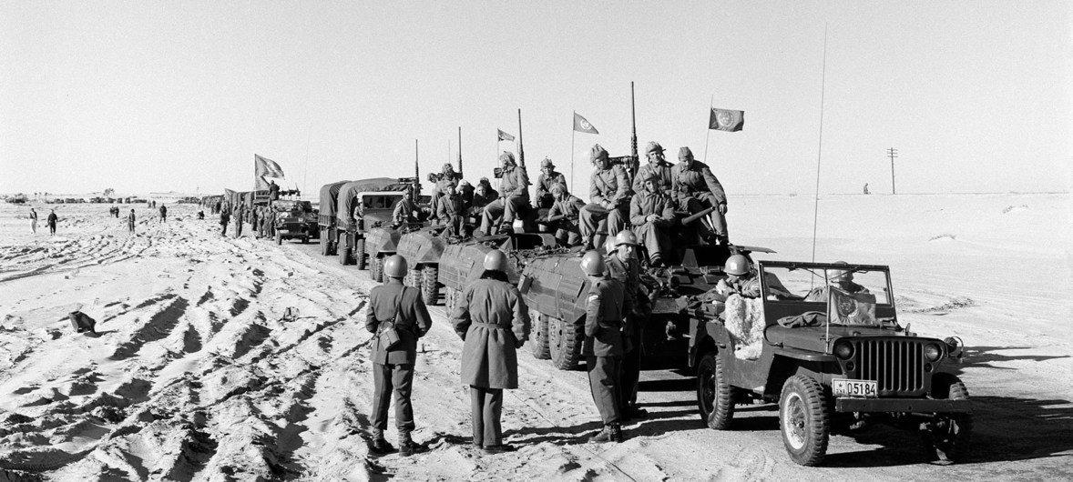Força de Emergência da ONU, Unef, na Península de Sinai