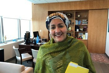 Deputy Secretary-General Amina Mohammed in her office at UN Headquarters in New York.