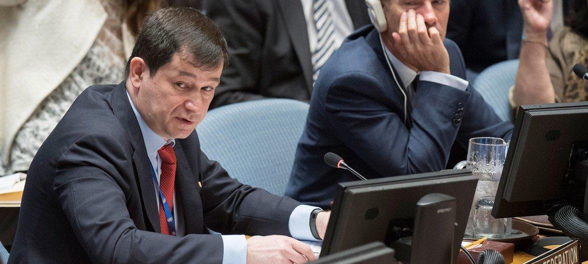 Исполняющий обязанности Постоянного представителя Российской Федерации при ООН Дмитрий Полянский
