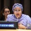نائبة الأمين العام أمينة محمد تتحدث في افتتاح منتدى الأمم المتحدة حول قضية فلسطين