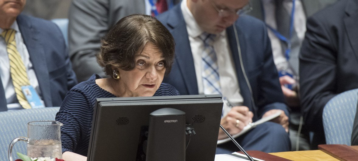 وكيلة الأمين العام للشؤون السياسية روزميري دي كارلو في مجلس الأمن