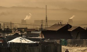 In Ulaanbaatar, Mongolia, air pollution levels are high.