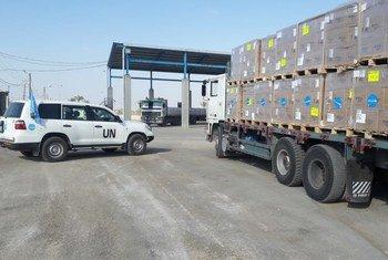اليونيسف تسلم شاحنتين من الإمدادات الطبية ذات الحاجة الماسة إلى قطاع غزة تكفي لتلبية احتياجات نحو 70 ألف شخص