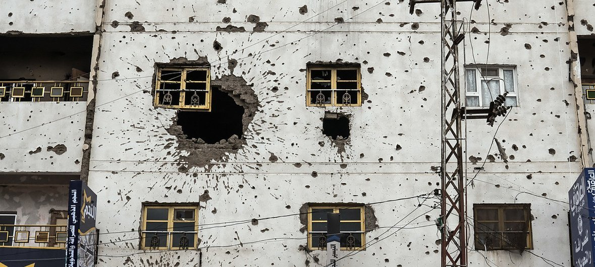 A building in Sana'a damaged by fighting in the war-torn country (file photo)