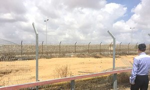 Palestinian side of the Kerem Shalom crossing between Israel and Gaza, May 2018.