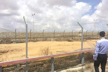 Cerca que divide Israel de Gaza.
