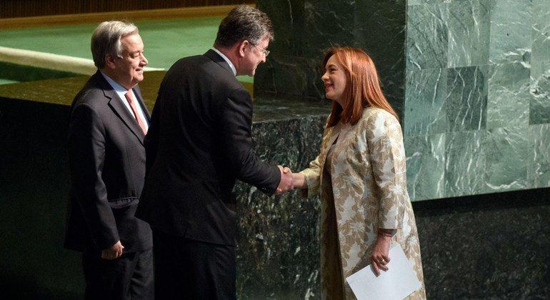 厄瓜多尔外交部长玛丽亚·费尔南达·埃斯皮诺萨·加西斯(María Fernanda Espinosa Garcés)获选即将在今年9月中旬开幕的联大第73届会议主席。埃斯皮诺萨由此将成为联合国历史上第四位女性联大主席。