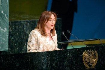 María Fernanda Espinosa Garcés, de l'Equateur, élue Présidente de la 73e session de l'Assemblée générale des Nations Unies.