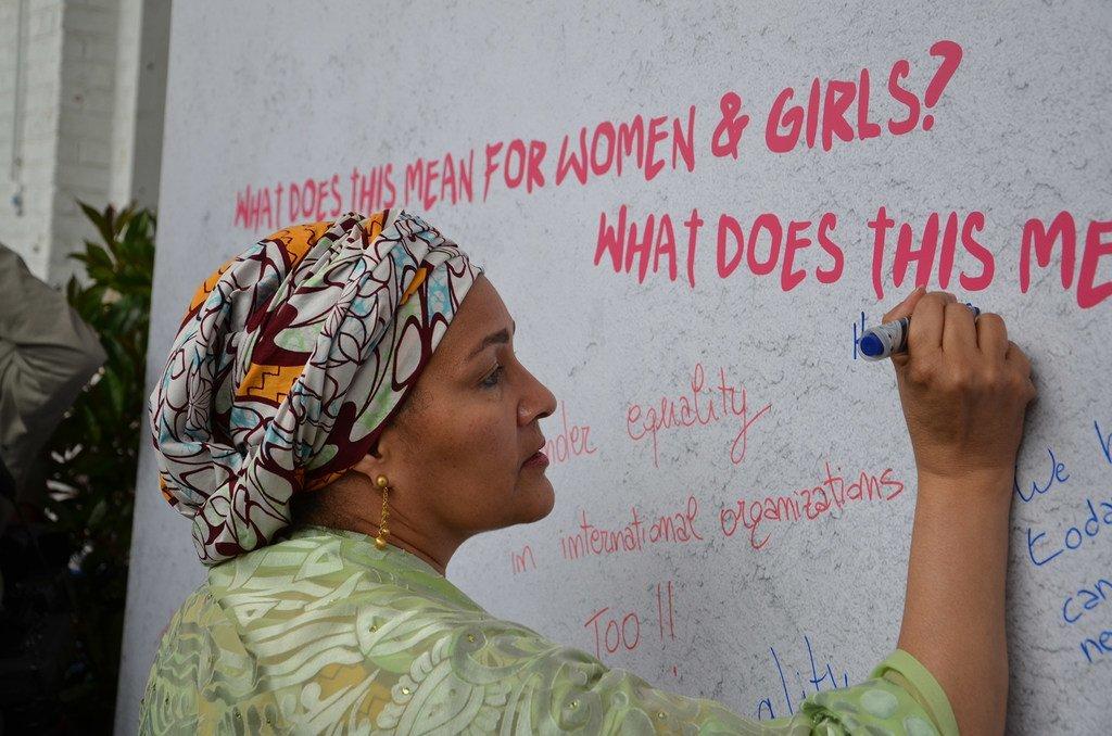 1/ Amina J. Mohammed, du Nigéria Vice-Secrétaire générale des Nations Unies