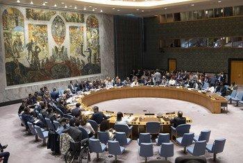安理会正在举行会议。
