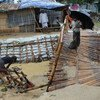 Flash flooding has damaged key infrastructure including this bridge in Balukhali camp.