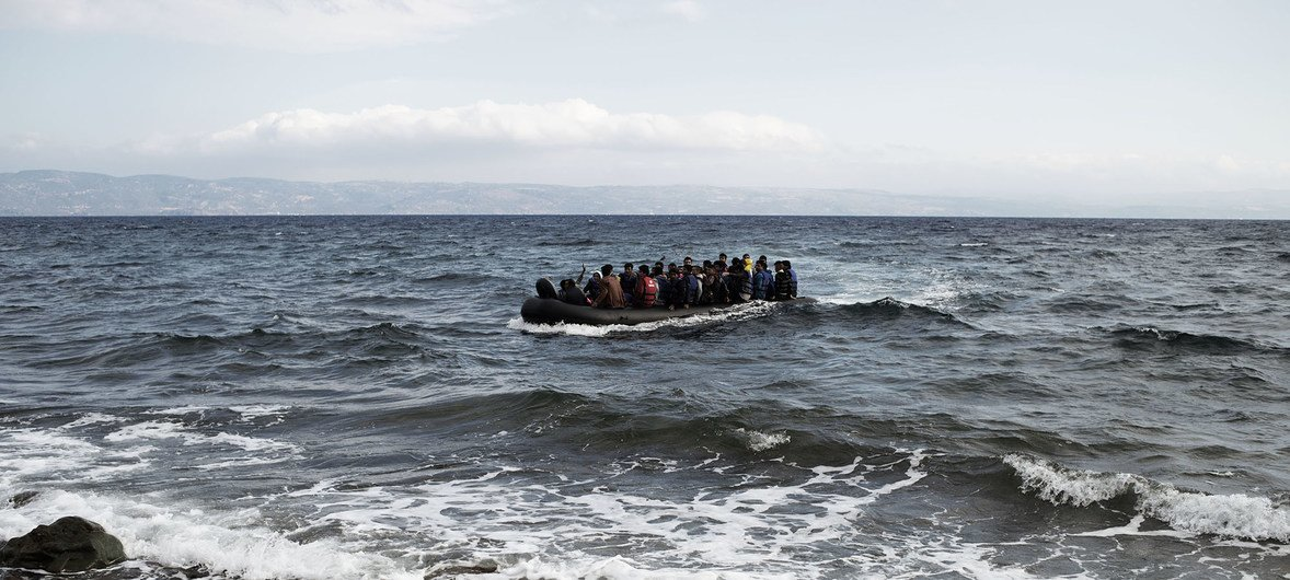 Many migrants have lost their lives trying to cross the Mediterranean Sea to reach Europe on board flimsy boats. Pictured here a group of migrants at sea. (file photo)