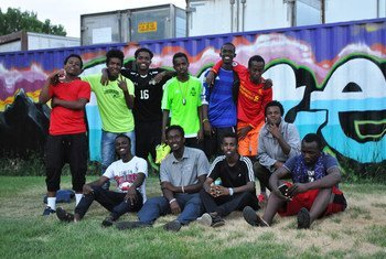 Young refugee men in the United States find a sanctuary in football.