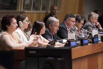 UN Secretary-General António Guterres (centre) at the opening of the 11th Session of the Conference of States Parties to the Convention on the Rights of Persons with Disabilities.