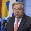 Le Secrétaire général de l'ONU, António Guterres, lors d'un point de presse à New York.