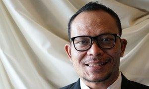 M.Hanif Dhakiri, waziri wa kazi wa Jamhuri ya Indonesia , akiwa ofisi ya UN Geneva